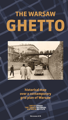 Mapa The Warsaw Ghetto. Historical map over a contemporary grid plan of Warsaw